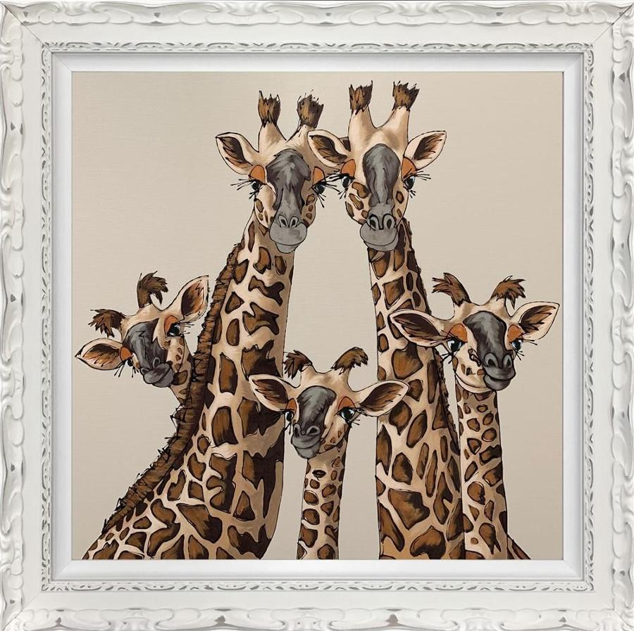 High Five In Pavilion Gray - Framed Art Print by Amy Louise