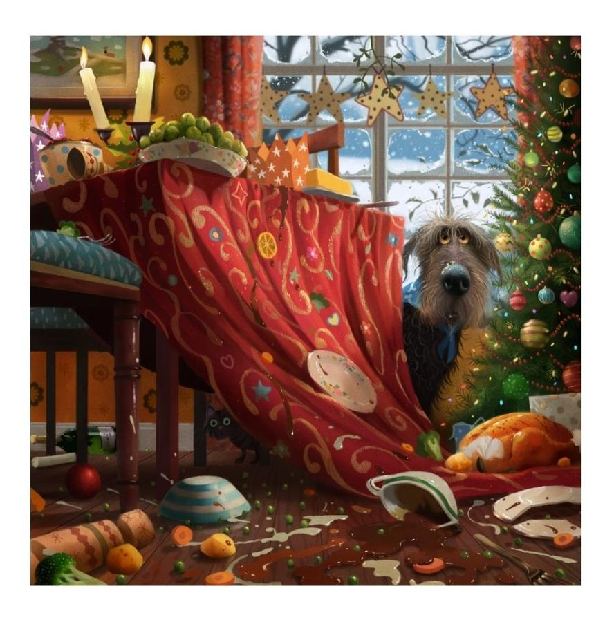 Christmas Dinner! Art Print by Stephen Hanson