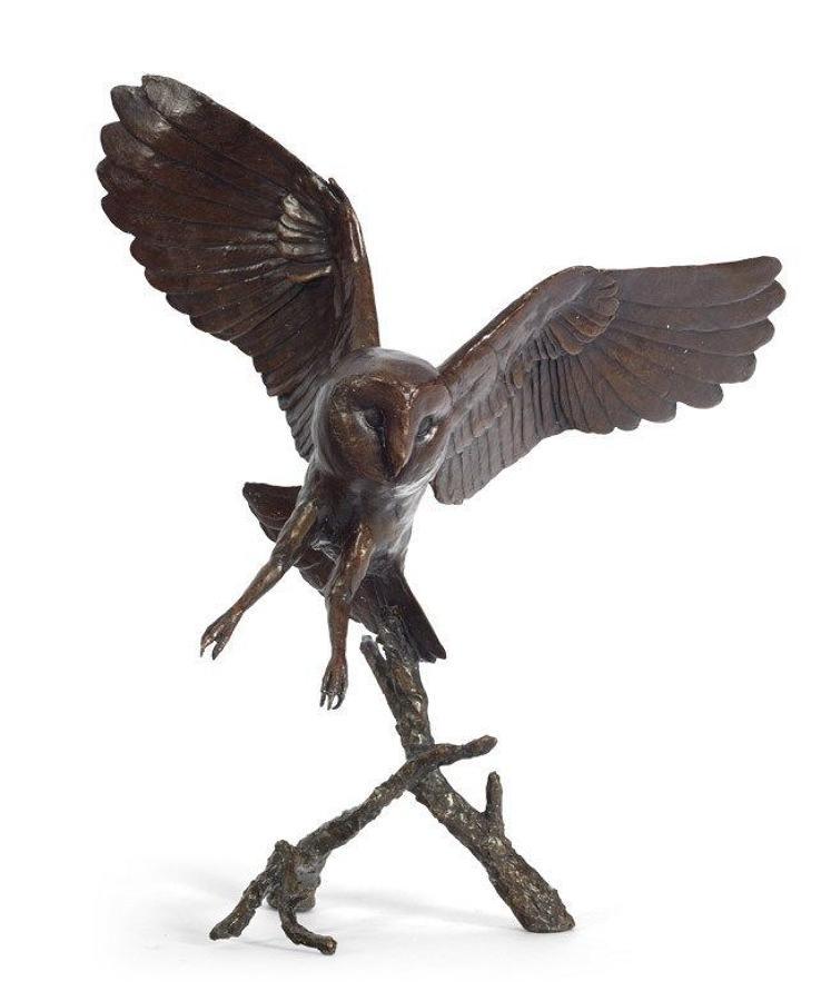 Nocturne-Owl By Michael Simpson -Bronze Sculpture