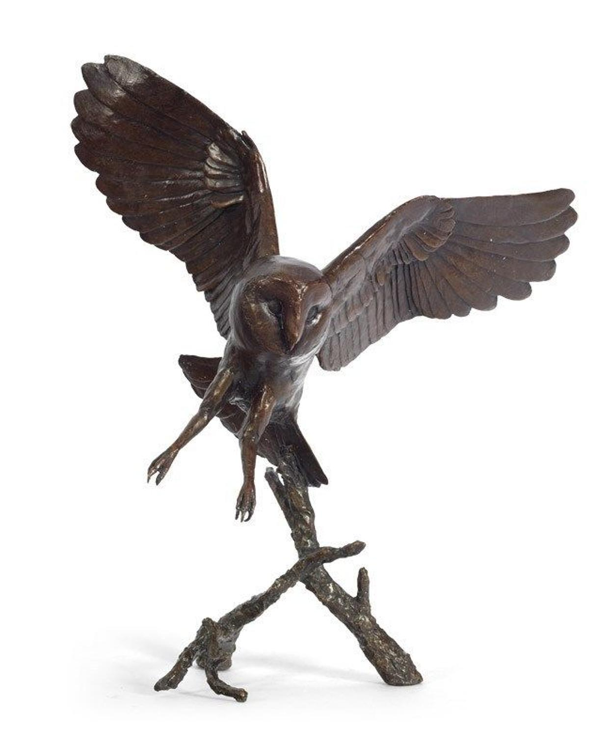 Nocturne-Owl By Michael Simpson -Bronze Sculpture