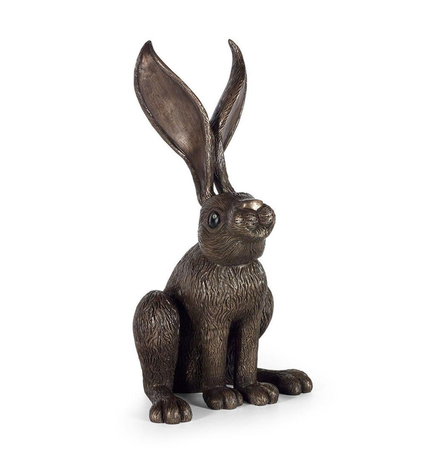 Hare's Looking at You By Jennifer Hogwood-Cold Cast Bronze Sculpture