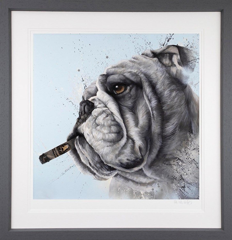 Winston Cigar - Framed Art Print by Dean Martin