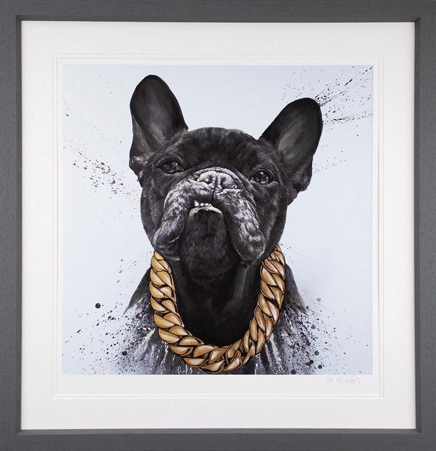 Pablo Escobark - Framed Art Print by Dean Martin