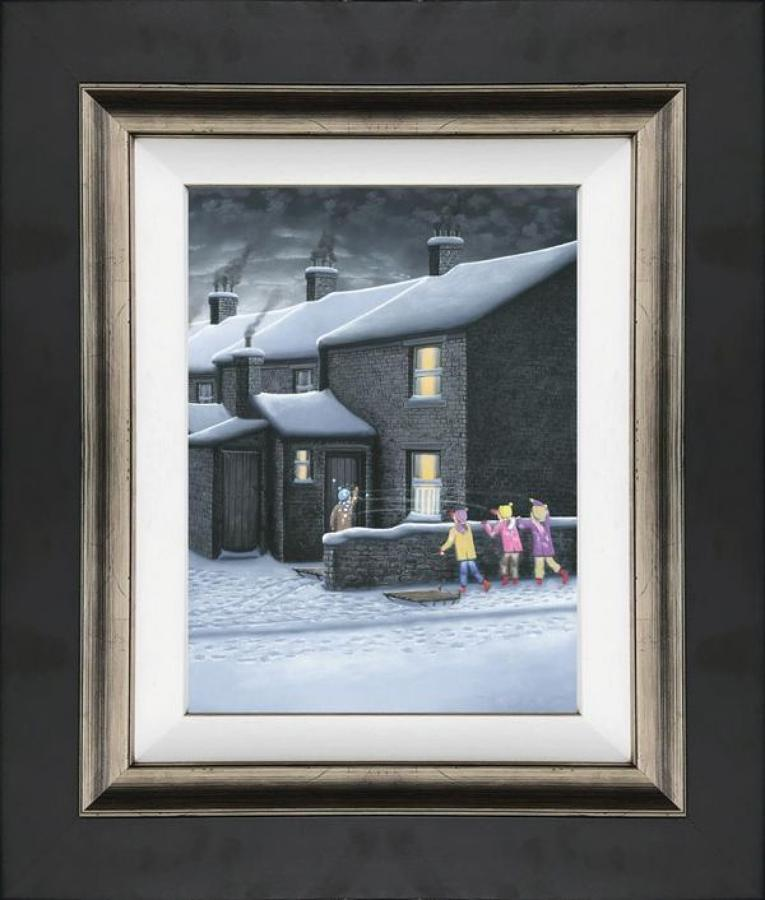 A Parting Shot - Framed Canvas Art Print by Leigh Lambert