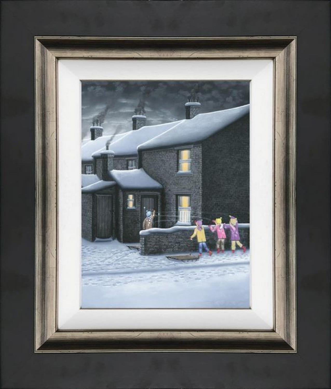 A Parting Shot - Framed Canvas Art Print by Leigh Lambert