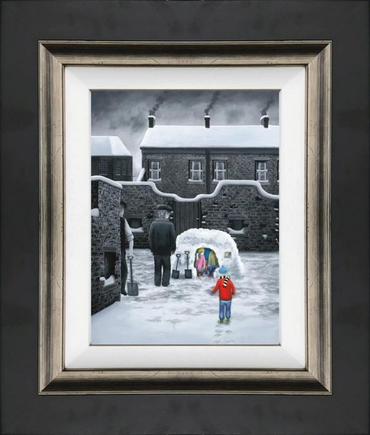 Room For One More - Framed Canvas Art Print by Leigh Lambert