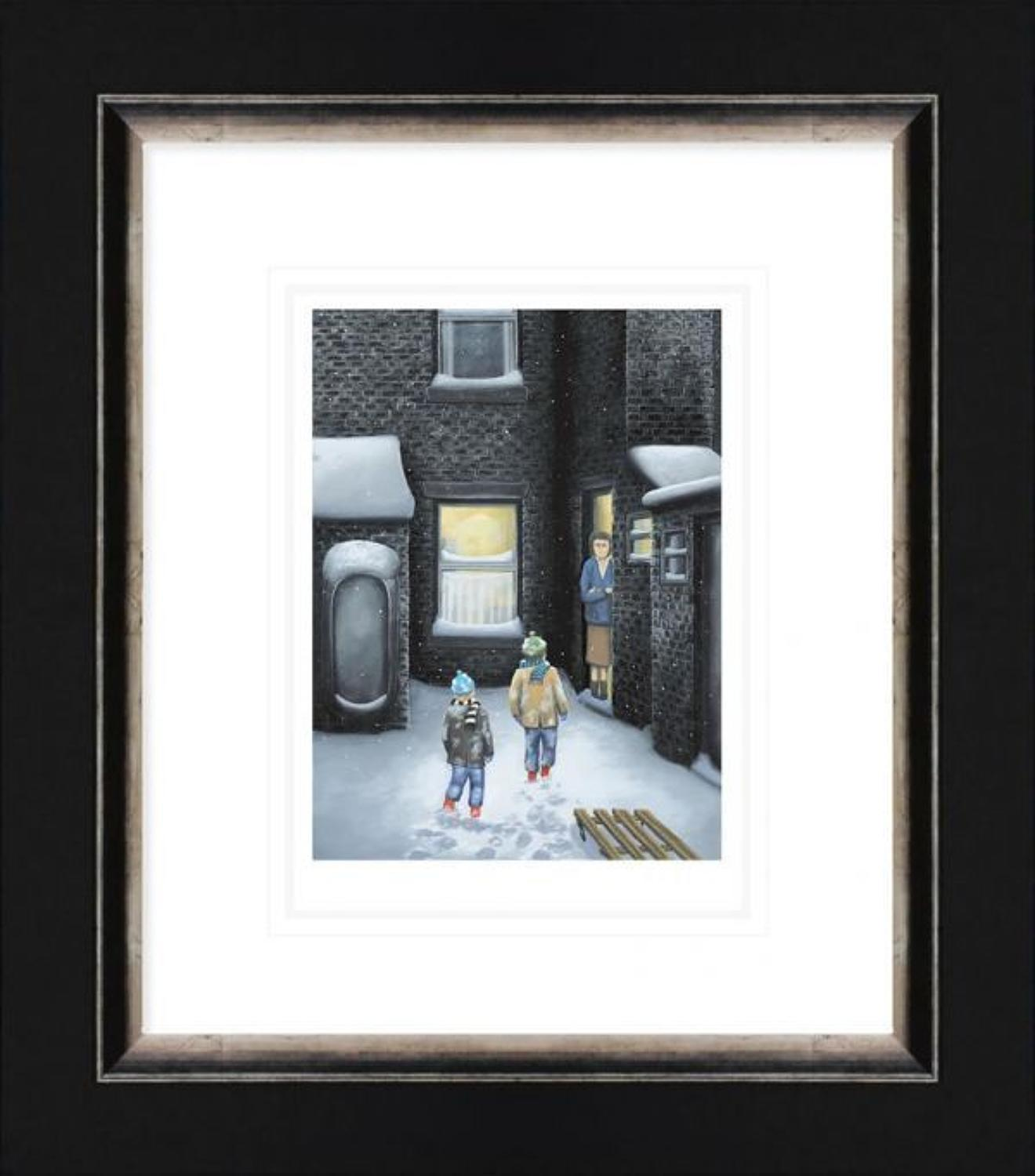 What's For tea Mam - Framed Paper Art Print by Leigh Lambert