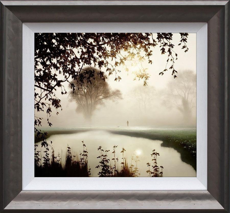 A Time for Reflection Framed Art Print by John Waterhouse