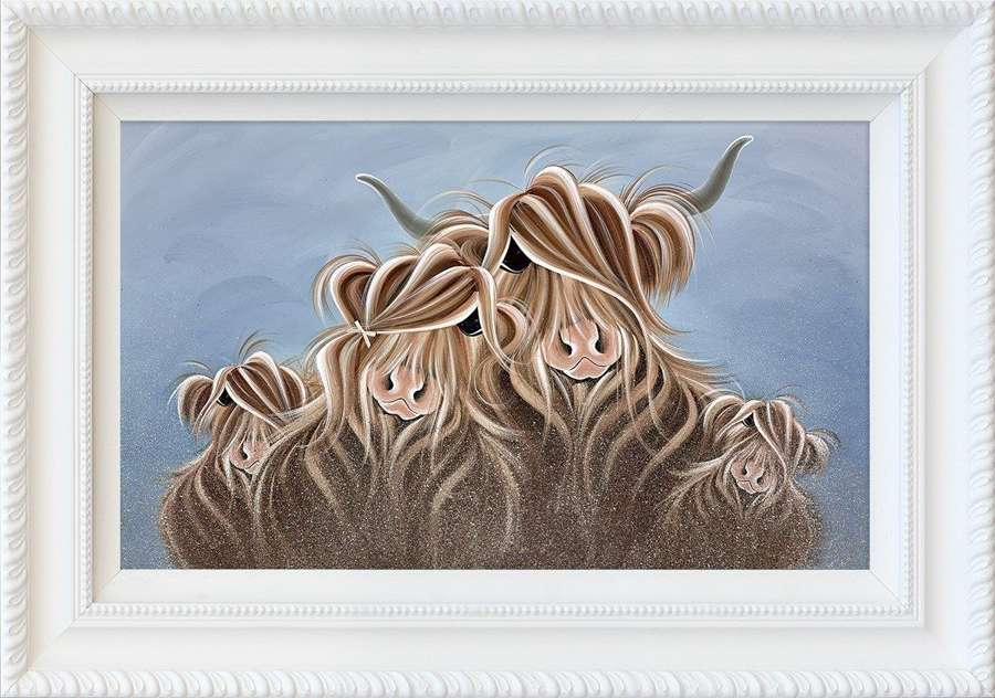 My Herd Framed Art Print by Jennifer Hogwood