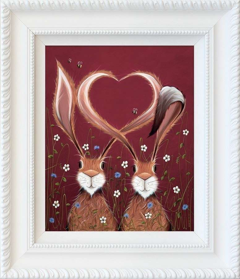 Share the Love Framed Art Print by Jennifer Hogwood