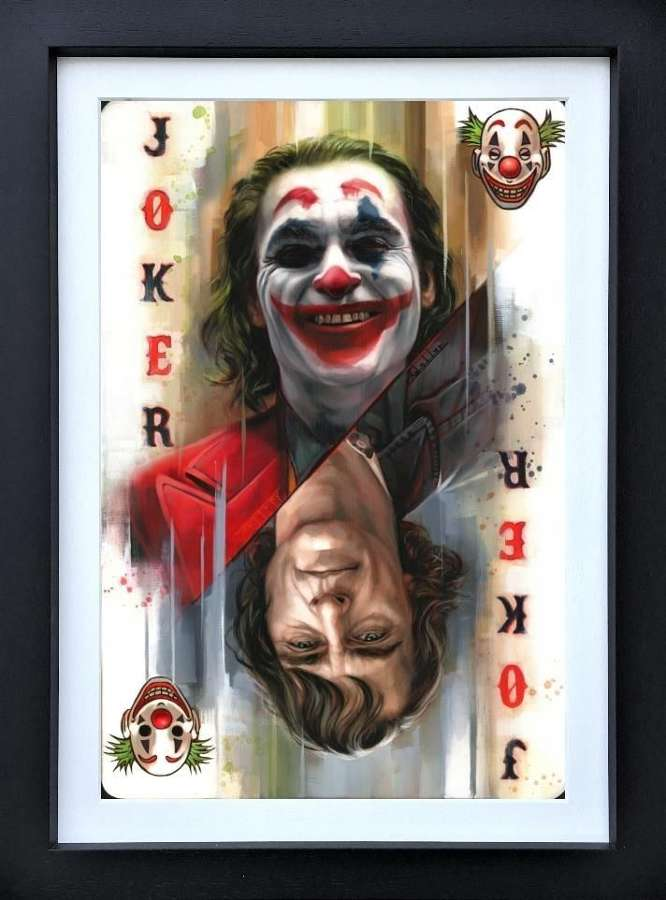 Joker - Framed Art Print by Ben Jeffrey