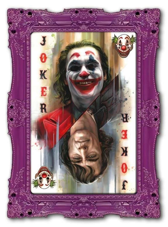 Joker - Framed Canvas Art Print by Ben Jeffrey