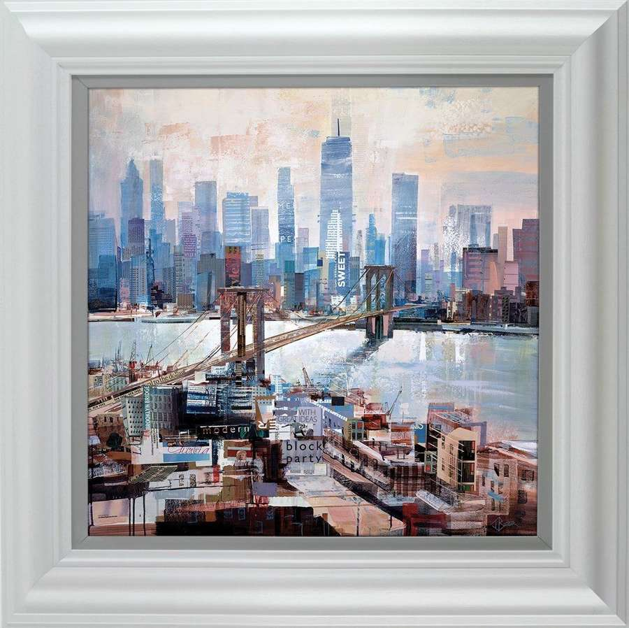 Big City Blues Framed Art Print by Tom Butler