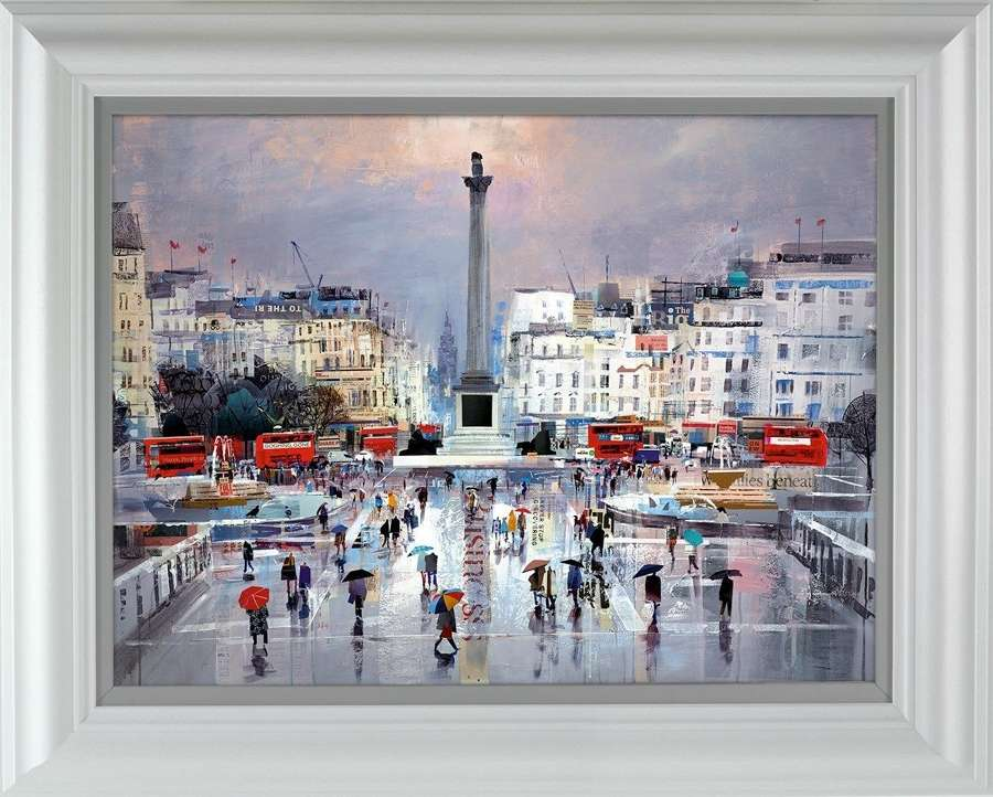 Flair and Square Framed Art Print by Tom Butler