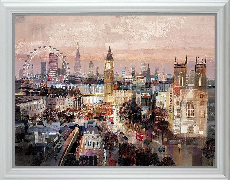 Golden Hour Canvas Framed Art Print by Tom Butler