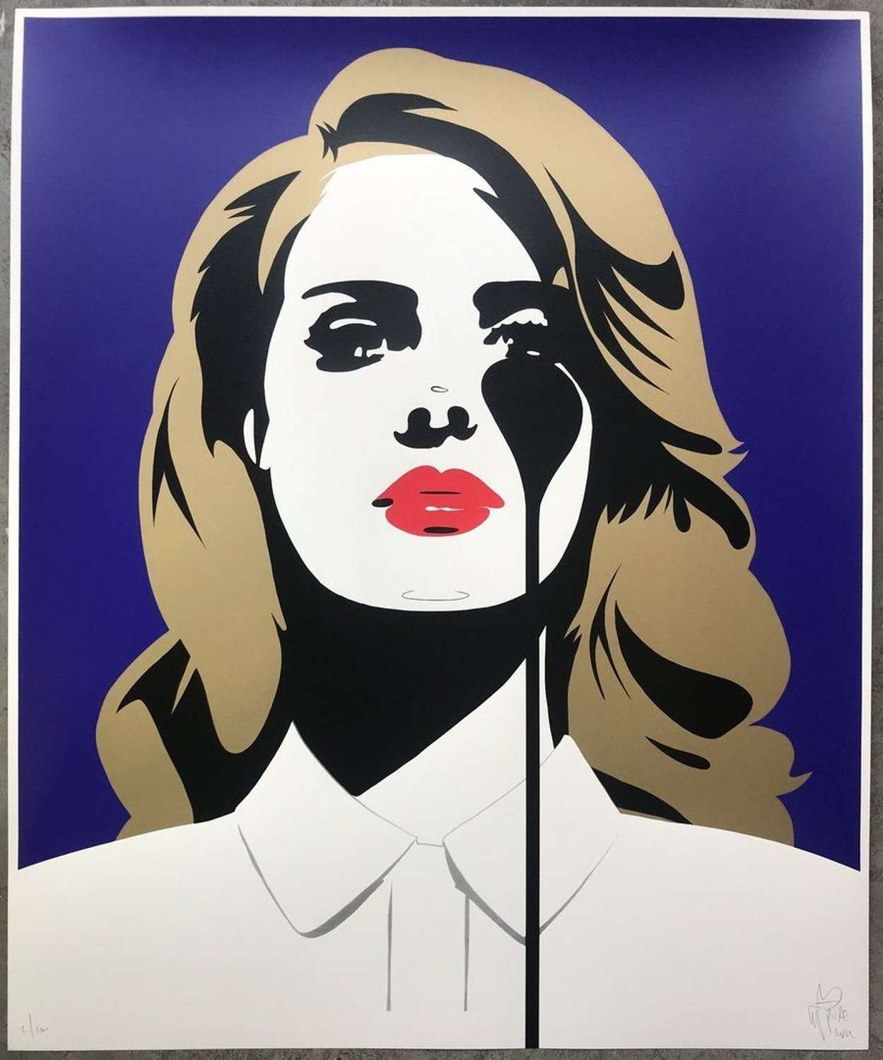 Lana Del Rey's Nightmare Art Print By Pure Evil