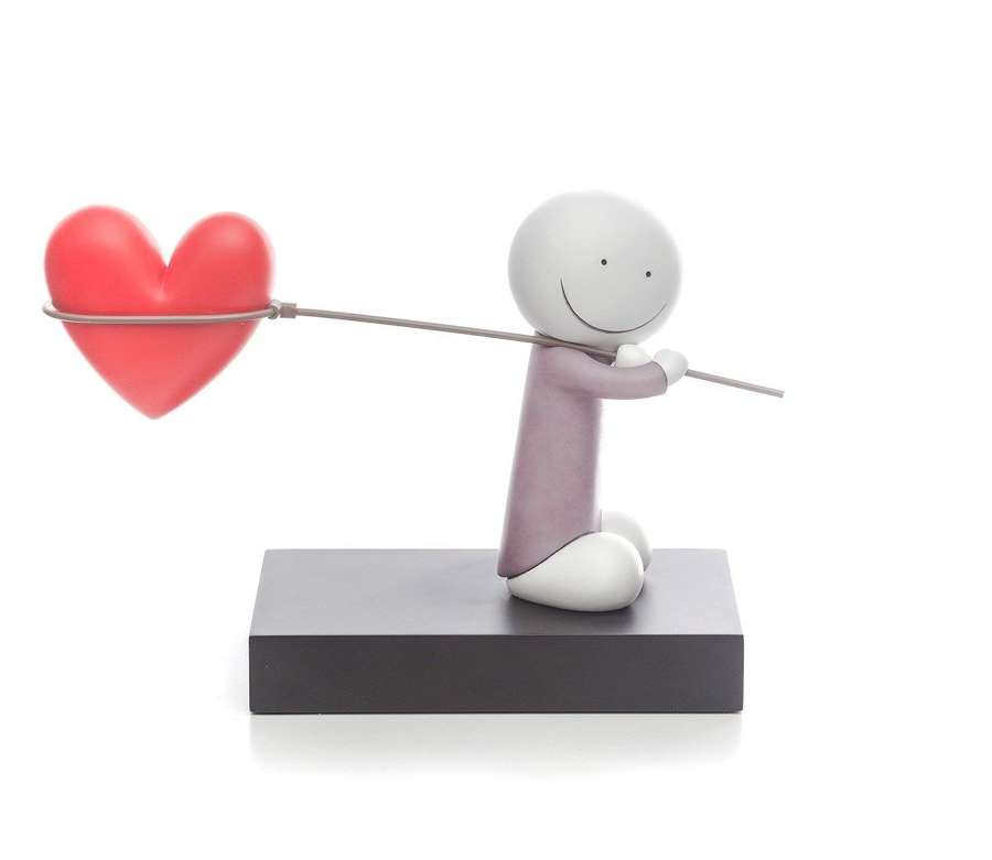 Caught Up In Love by Doug Hyde Sculpture
