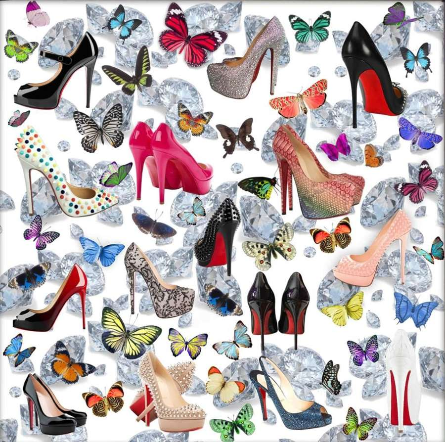 Shoe Fantasy Signed Art Print by Chloe Rox