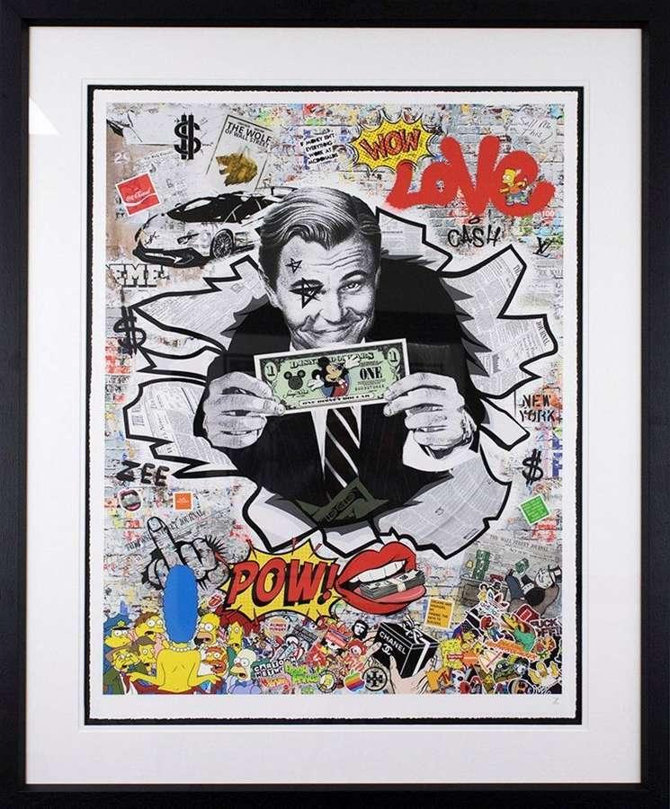 The Colour Of Money by Artist Zee Framed Art Print