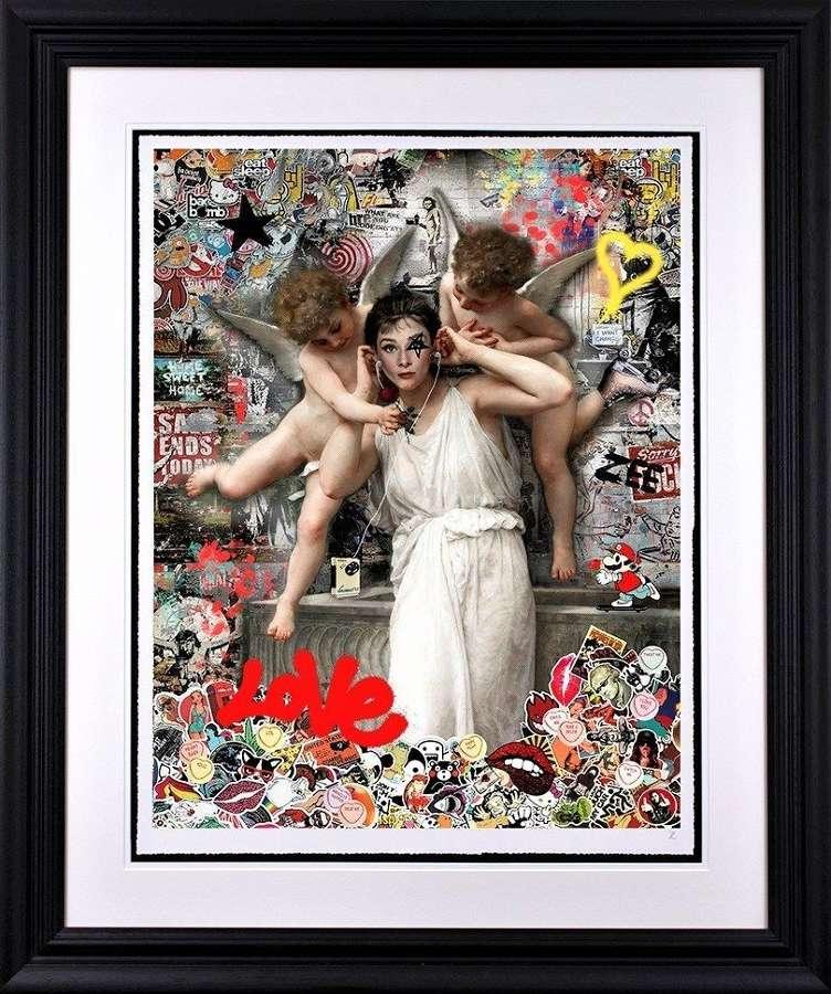 Love by Artist Zee Framed Art Print