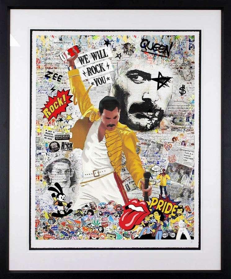 We Will Rock You by Artist Zee Framed Art Print