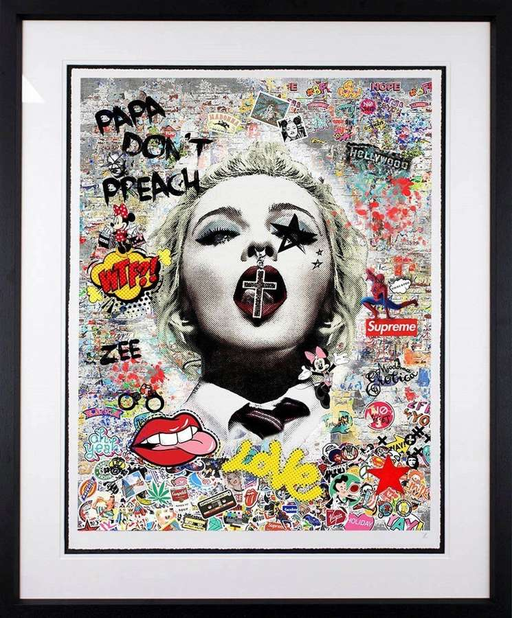 Papa Don't Preach by Artist Zee Framed Art Print