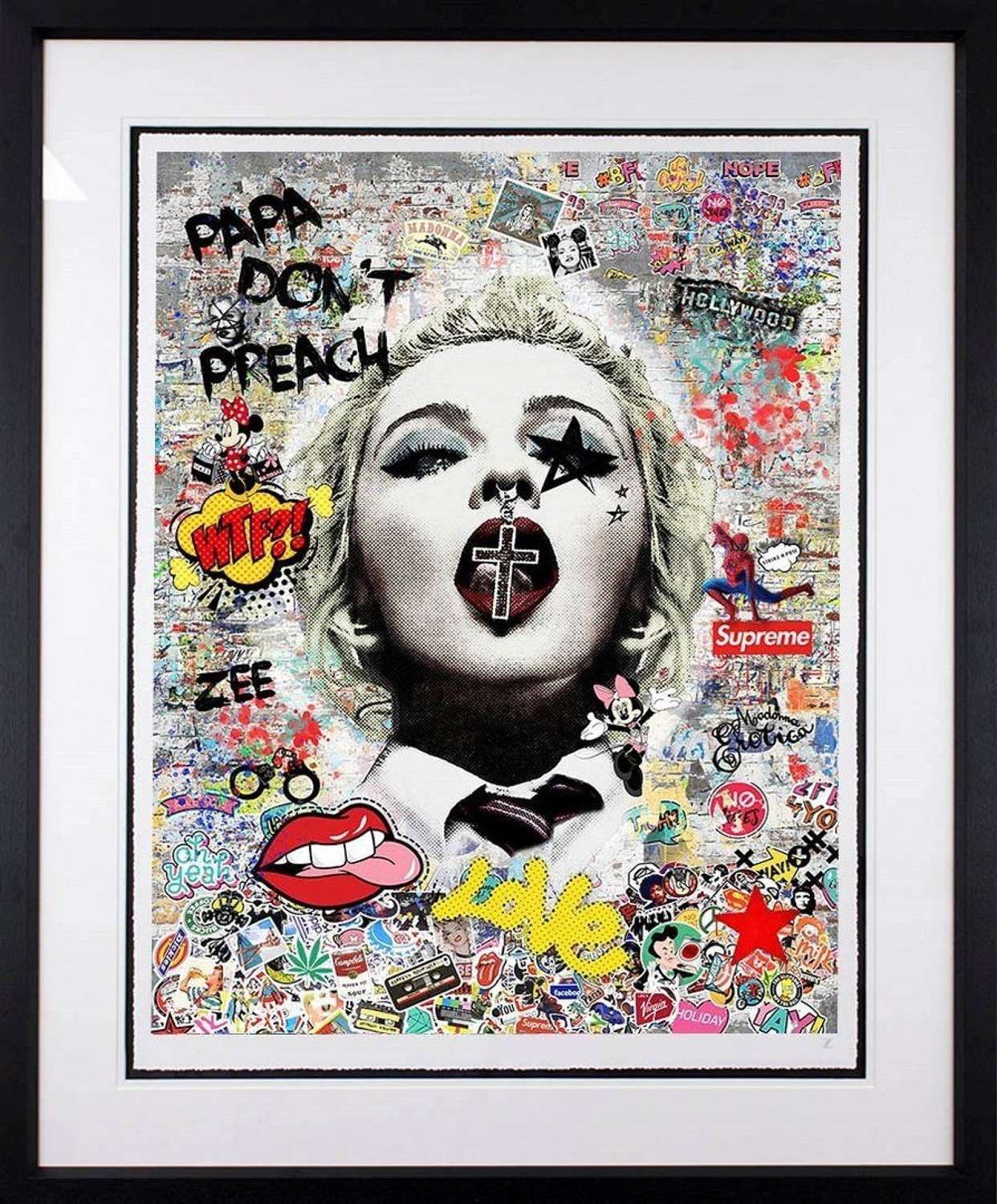 Papa Don't Preach by Artist Zee Framed Art Print