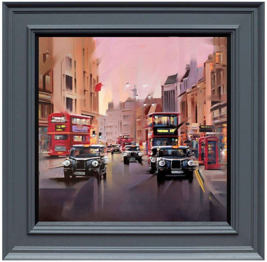 City Streets by Neil Dawson Framed Canvas Art Print