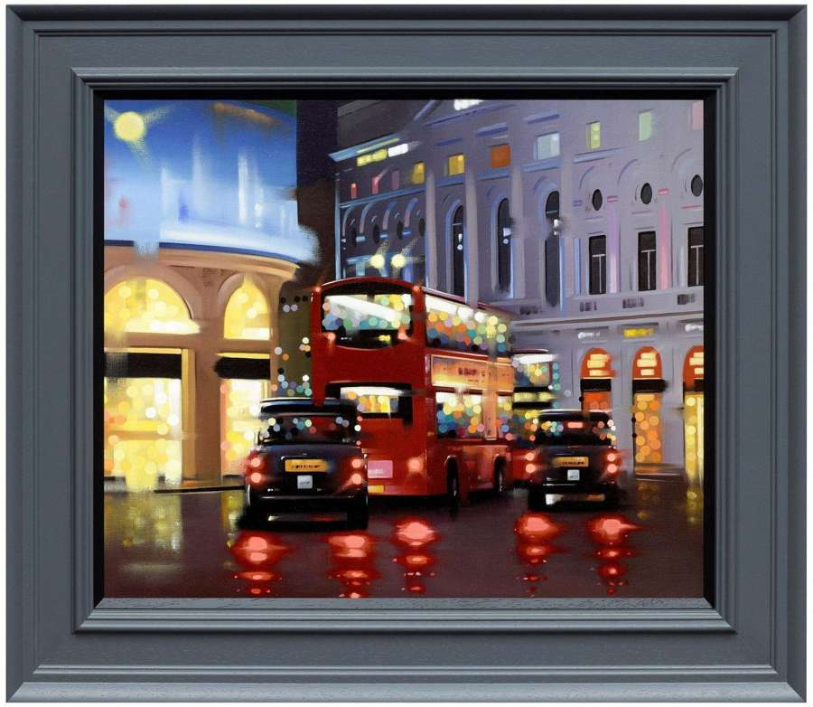 Piccadilly Night Adventure by Neil Dawson Framed Canvas Art Print