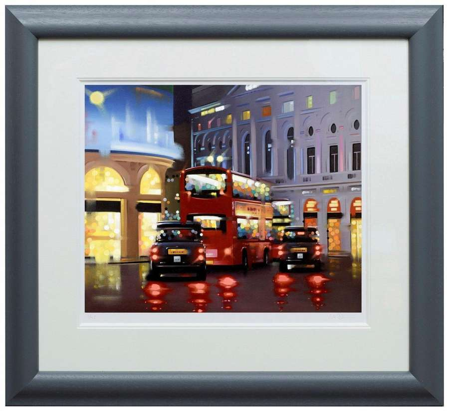 Piccadilly Night Adventure by Neil Dawson Framed Paper Art Print
