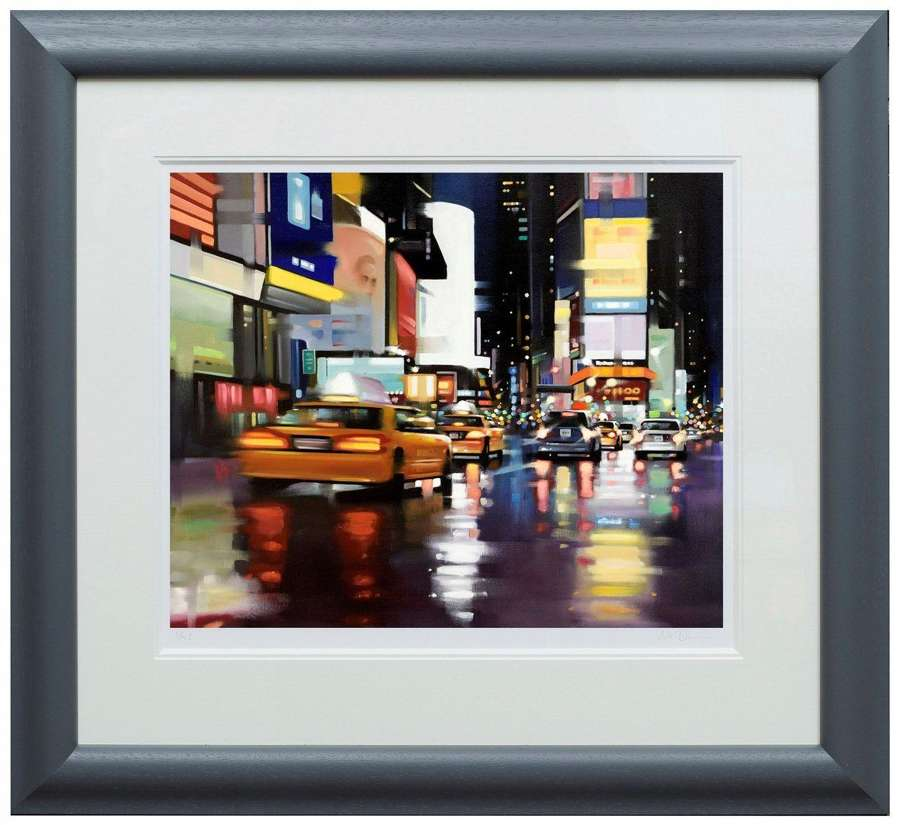 New York City Motion by Neil Dawson Framed Paper Art Print