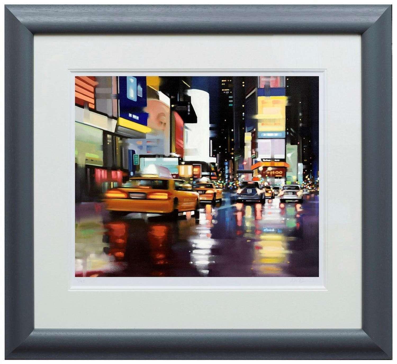 New York City Motion by Neil Dawson Framed Paper Art Print