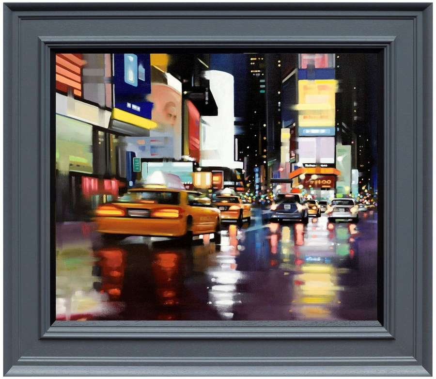New York City Motion by Neil Dawson Framed Canvas Art Print