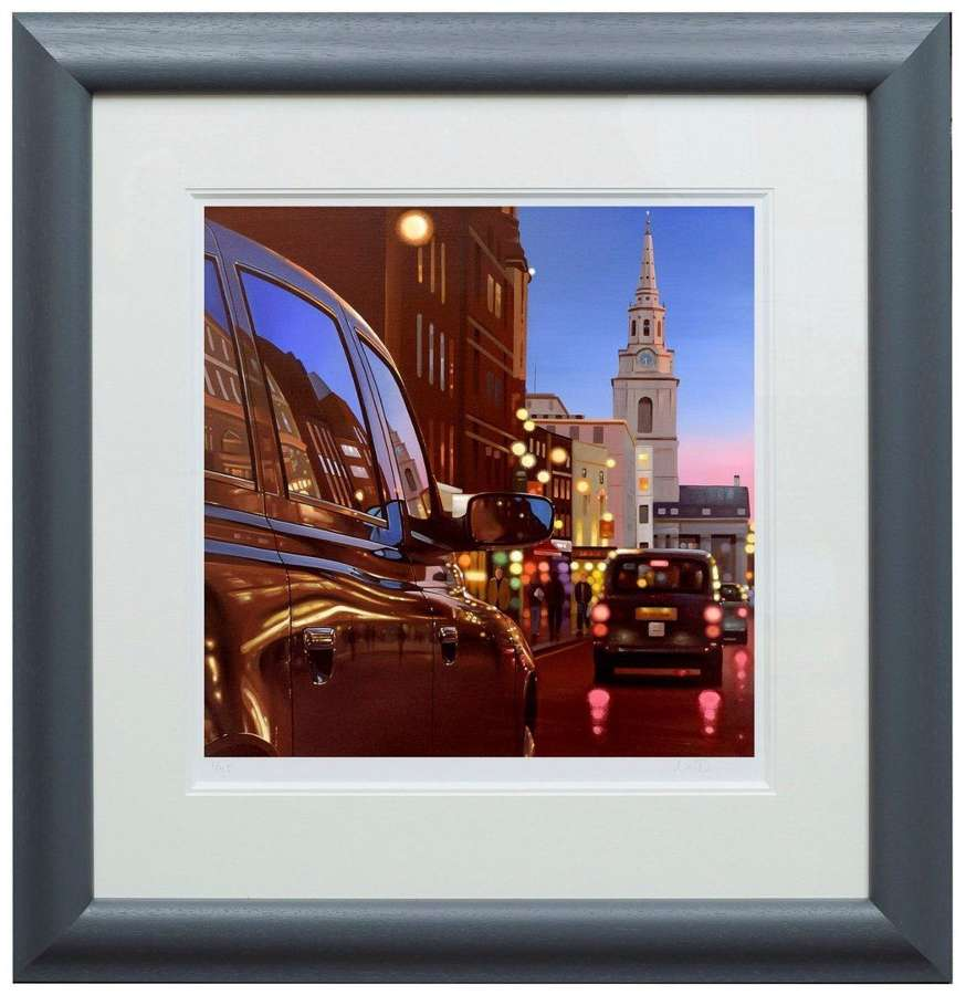 London Dusk Reflections by Neil Dawson Framed Paper Art Print