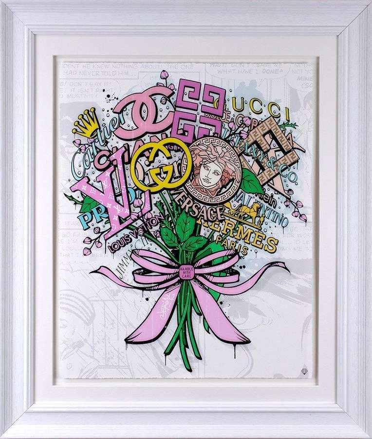 The Brand Bouquet Framed Art Print by JJ Adams