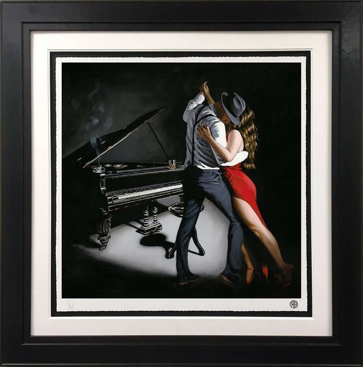 My Heart Is Still Dancing Framed Art Print by Richard Blunt