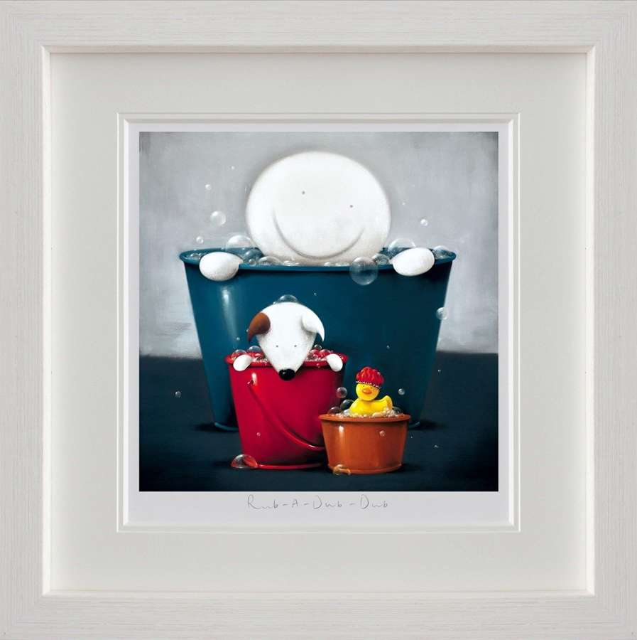 Rub A Dub Dub by Doug Hyde Framed Art Print