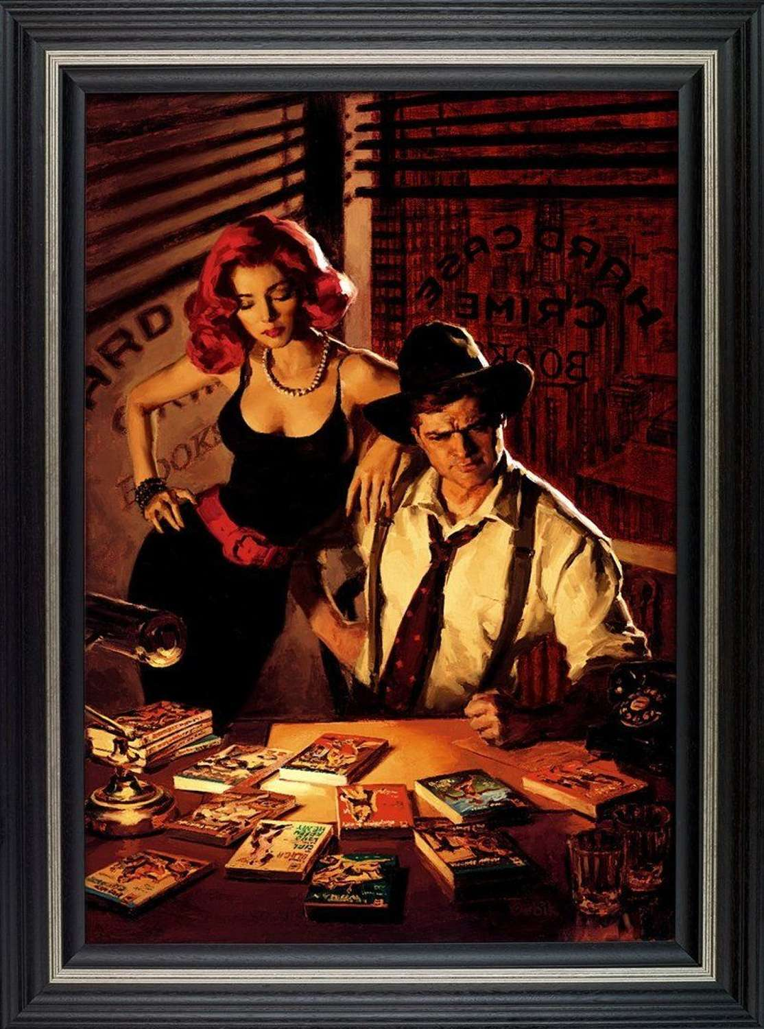 Fifty - To - One Framed Canvas Art Print by Glen Orbik