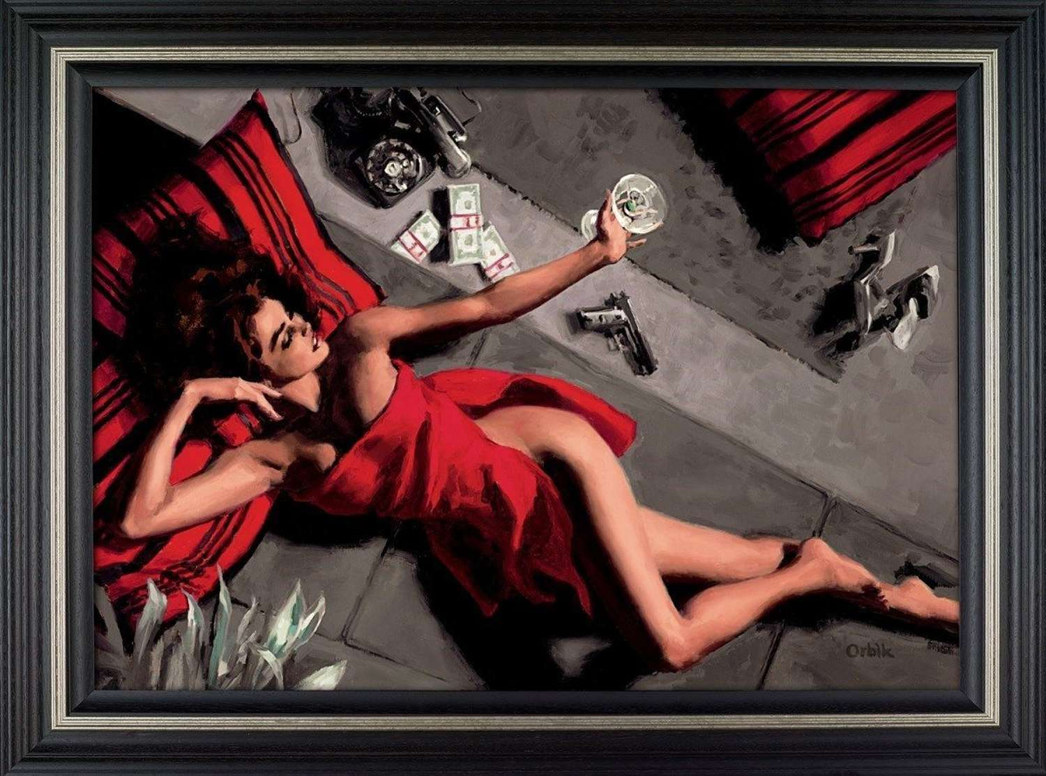 Blackmailer​​​​​​​ Framed Canvas Art Print by Glen Orbi