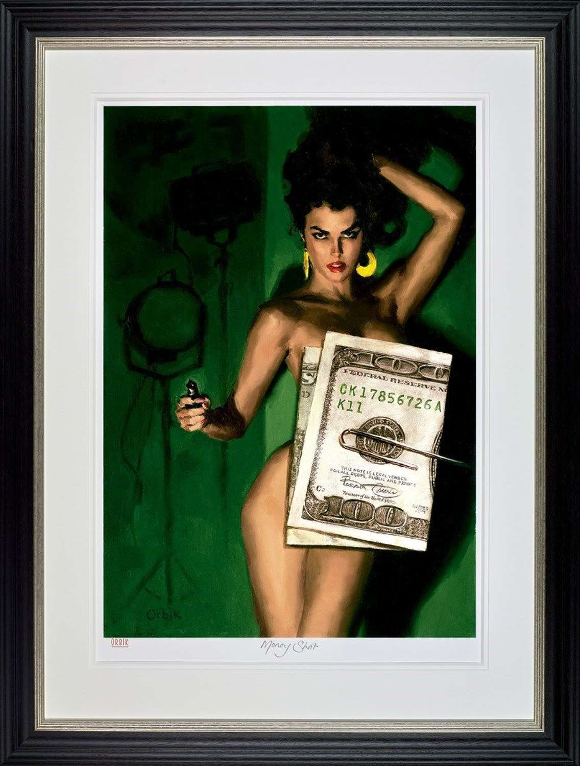 Money Shot Framed Art Print by Glen Orbik