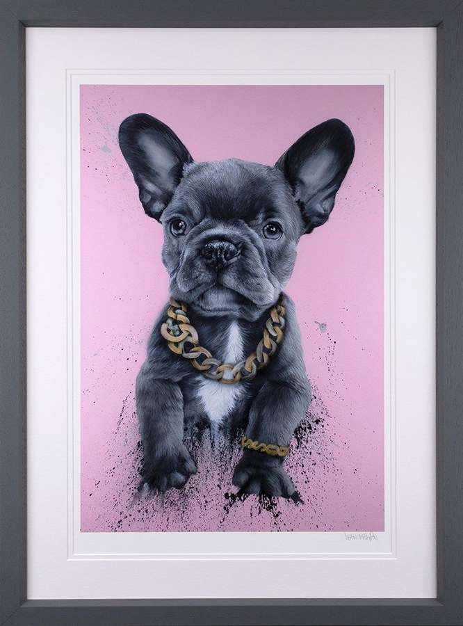 Privileged Pooch Framed Art Print by Dean Martin