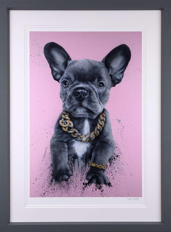 Privileged Pooch Framed Art Print by Dean Martin