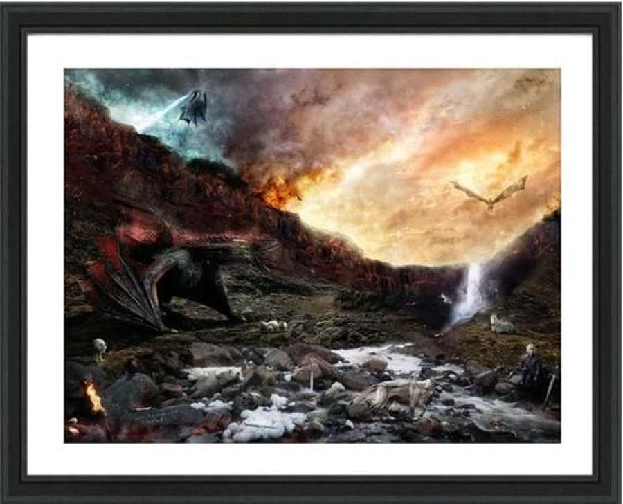 Dracarys (Game of Thrones) - Framed Art Print by Mark Davies