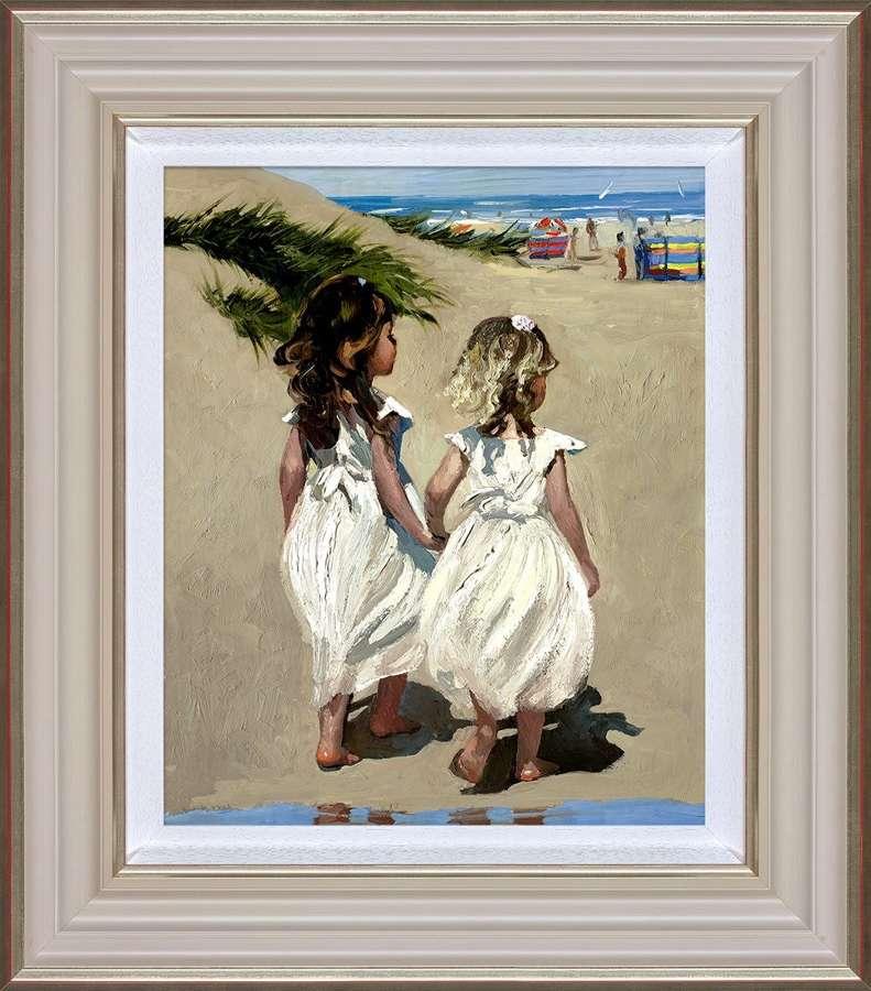 Beach Babies Framed Art Print by Sherree Valentine Daines