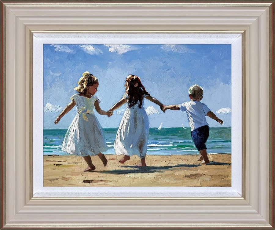 Sunkissed Memories Framed Art Print by Sherree Valentine Daines