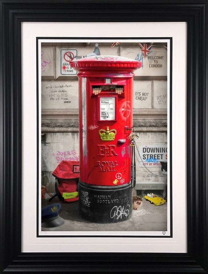 Postman Patrick Framed Art Print by JJ Adams