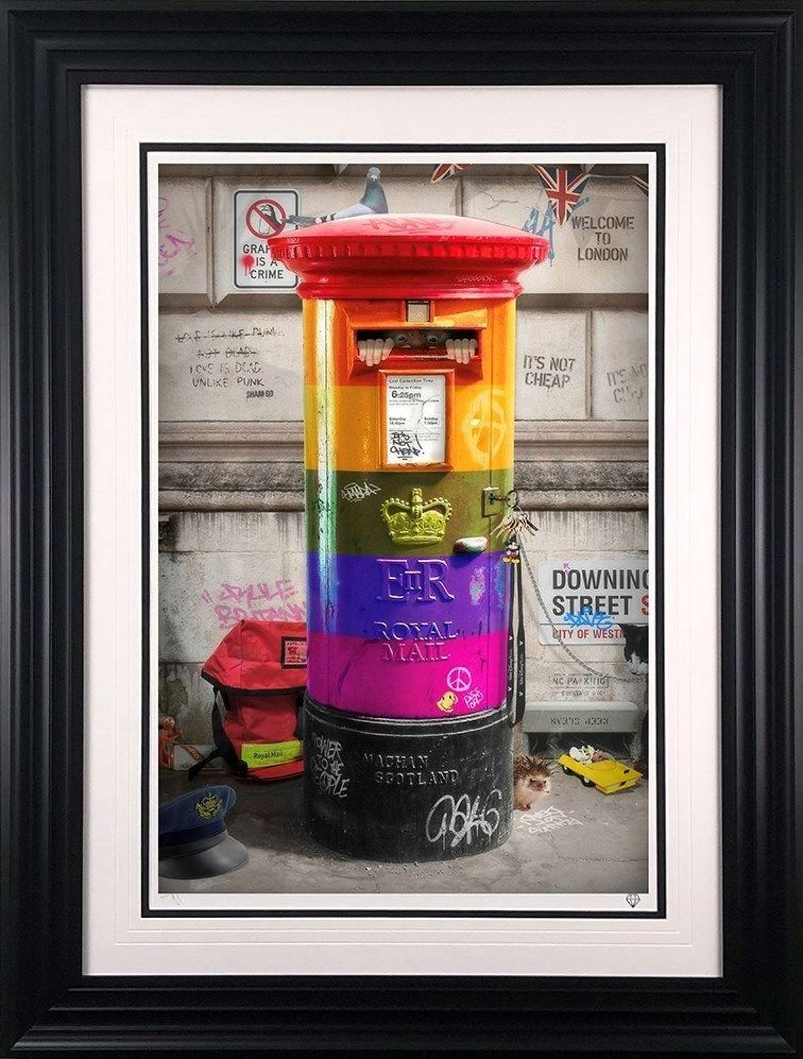 Postman Patrick - Rainbow Edition Framed Art Print by JJ Adams
