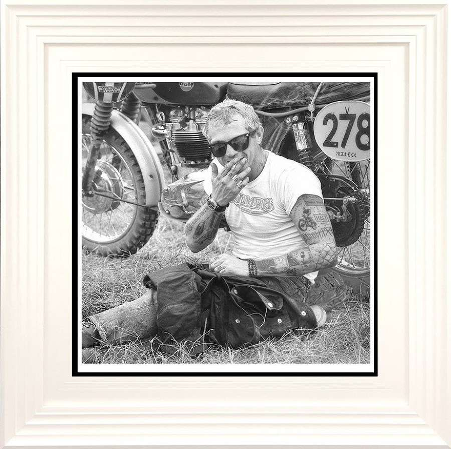 Cooler King II - Black and White - Framed Art Print by JJ Adams