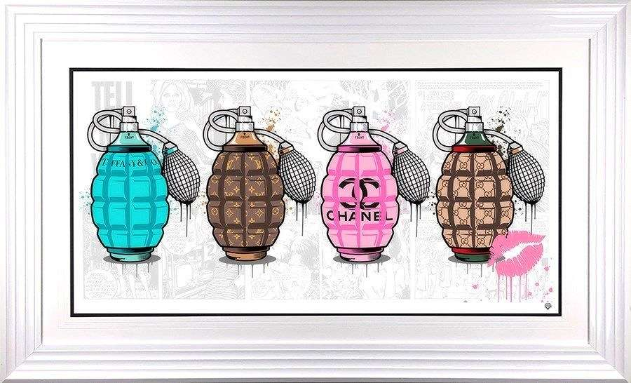 Designer Grenades - The Full Set - Framed Art Print by JJ Adams