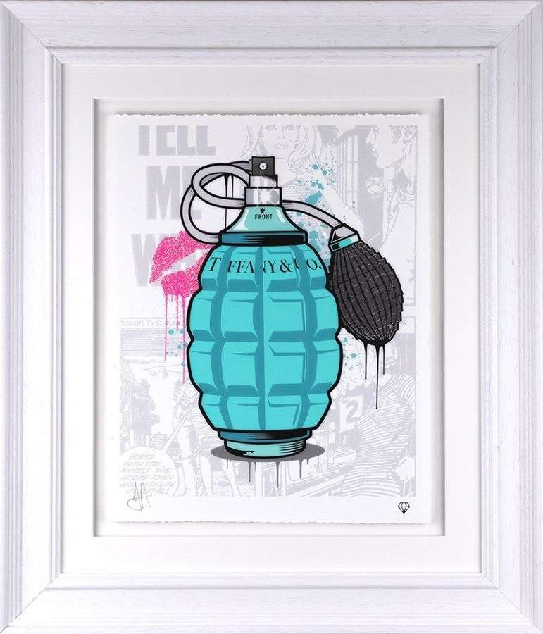 Tiffany & Co designer Grenade - Framed Art Print by JJ Adams